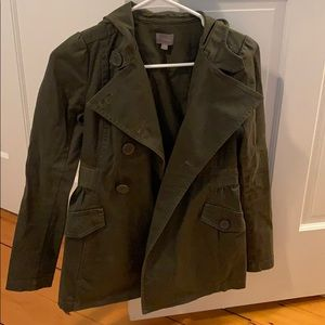 Olive Green Rubbish Cargo Jacket (Size XS)
